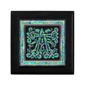 Ein Monogramm Masselle blauer dekorativer Kasten Schmuckschachtel
