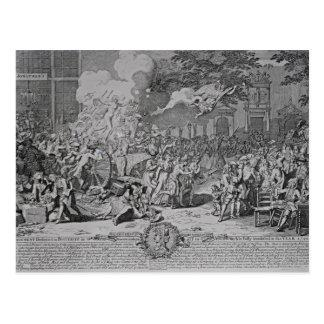 Ein Monument eingeweiht Nachwelt, 1720 Postkarte