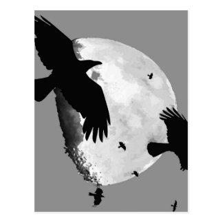 Ein Mord an den Krähen und am Mond Postkarte