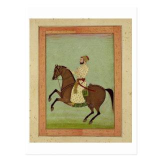 Ein Mughal Adliger zu Pferd, c.1790, vom Larg Postkarte