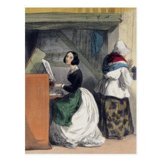 Ein Musik-Schulschüler, von 'Les Femmes De Postkarte