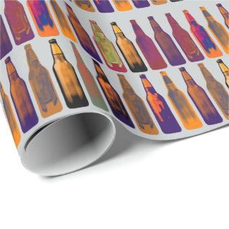 ein Muster der Flaschen (Bier) Geschenkpapier