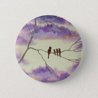 Ein Mutter-Segen-rundes Button von der Malerei