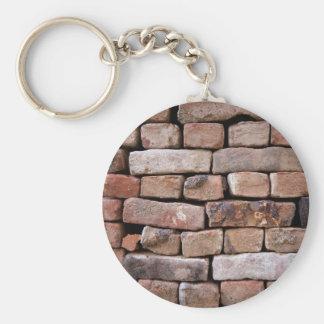 Ein naherer Blick zu einer Ziegelsteinwand Schlüsselanhänger