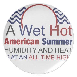 Ein nasser heißer amerikanischer Sommer Melaminteller