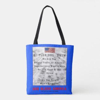 Ein Nation Teilen-GOTT SEGNEN AMERIKA in den roten Tasche