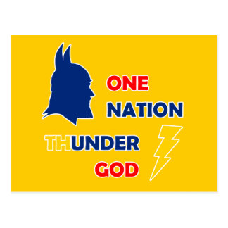 Ein Nations-Donner-Gott Postkarte