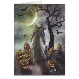 Ein nebelhafter Weg bei Halloween Karte