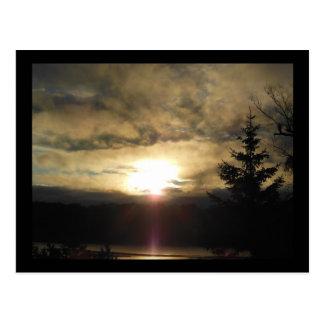 Ein neuer Tagessonnenaufgang Postkarte