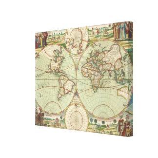 Ein neues mapp der Welt - Atlas Leinwanddruck