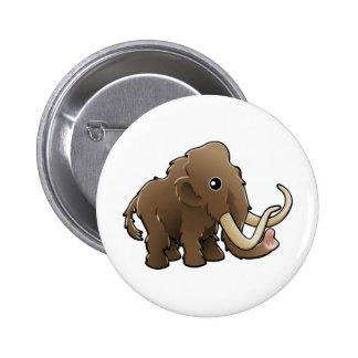Ein niedliches freundliches wolliges Mammut Anstecknadel