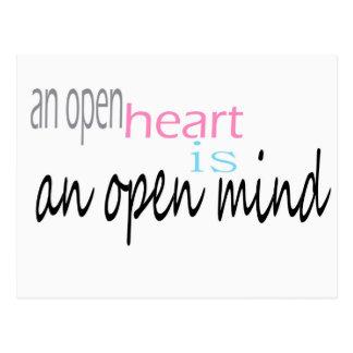 Ein offenes Herz ist ein offener Verstand Postkarte