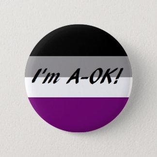 EIN-OKAYknopf Runder Button 5,1 Cm