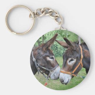 Ein Paar Eselfreunde Schlüsselanhänger