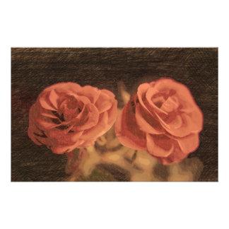 Ein Paar Rosen in sketch3 Briefpapier
