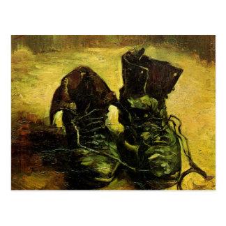 Ein Paar Schuhe durch Vincent van Gogh Postkarte
