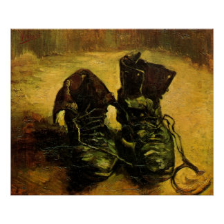 Ein Paar Schuhe durch Vincent van Gogh, Vintage Poster