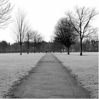 ein Park im Winter Fotoskulptur Schlüsselanhänger