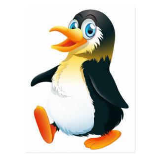 Ein Pinguingehen Postkarte