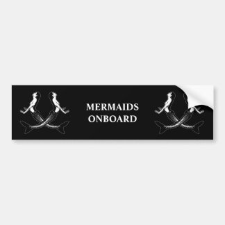Ein Piraten-Leben mermaids_3 Autoaufkleber