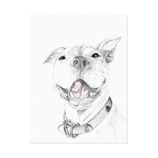 Ein Pitbull-Lächeln Leinwanddruck