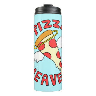 Ein Pizza-Himmel Thermosbecher