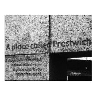 Ein Platz nannte Prestwich Postkarte
