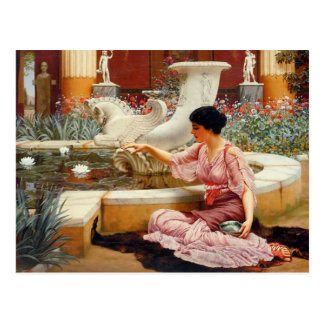 Ein Pompeian Garten - Godward Postkarten