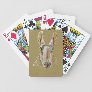 Ein Porträt eines Schafs Bicycle Spielkarten