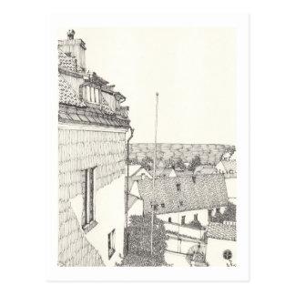Ein Porträt von Gotland No.2 Postkarte