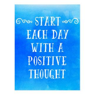Ein positiver Gedanke Postkarte