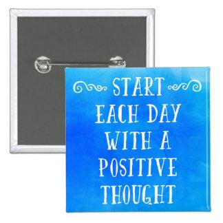 Ein positives Gedanken-Zitat Quadratischer Button 5,1 Cm