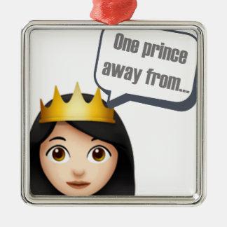ein Prinz weg von Emoji Silbernes Ornament