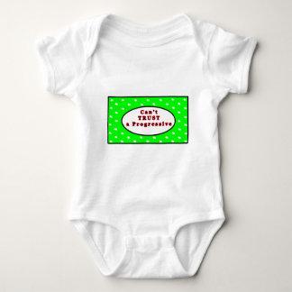 Ein progressiven Grün-Sternen nicht VERTRAUEN kann Baby Strampler