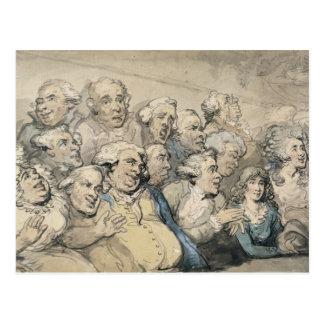 Ein Publikum am Drury Weg-Theater (Stift u. Tinte Postkarte