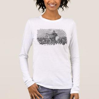 Ein Quan oder eine Mandarine, die einen Buchstaben Langarm T-Shirt