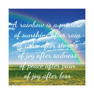 Ein Regenbogen ist ein Versprechen Leinwanddruck