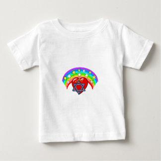 Ein Regenbogen und jüdischen Sterne Baby T-shirt