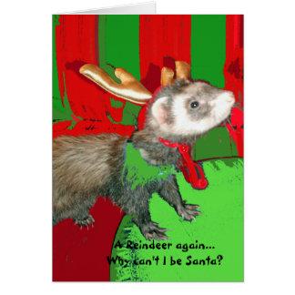 Ein Ren wieder?  Weihnachtskarte Grußkarte