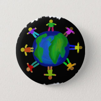 Ein Rennen - Antirassismus Runder Button 5,7 Cm