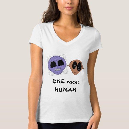 EIN Rennen MENSCHLICHES niedliches T-Shirt