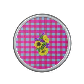 Ein Retro rosa aquamarines Checkered Bluetooth Lautsprecher