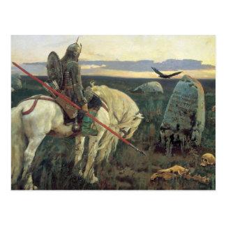 Ein Ritter an den Kreuzungen Postkarte