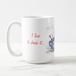 Ein romantischer Becher Kaffeetasse