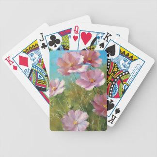 Ein rosa Blumengarten Bicycle Spielkarten