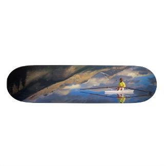 Ein Rower auf Banff See im Kanada HERRN) Personalisiertes Skateboard