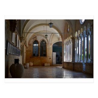 Ein ruhiges Kloster-Kloster in Dubrovnik Postkarte