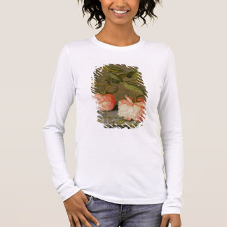 Ein ruhiges Leben mit Rosen auf einer Leiste Langarm T-Shirt