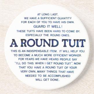 Ein rundes Tuit Sandstein Untersetzer