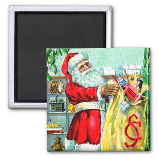 Ein Sack voll Weihnachten Quadratischer Magnet